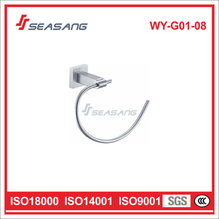 Stainless Steel Bathroom Lavatory Towel Ring for Hotel and Residential