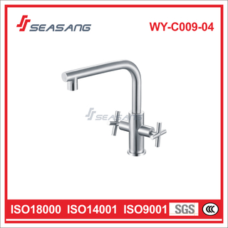Stainless Steel Kitchen Sink Water Faucet with Two Handles WY-C009-04