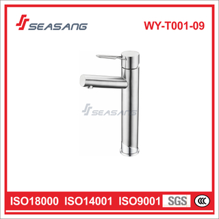 Lavatory Toilet Stainless Steel Polished Bathroom Basin Tall Vessel Faucet